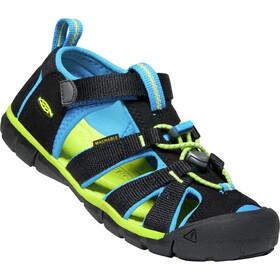 Keen Seacamp II CNX Sandals Ungdom black/brilliant blue